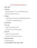 Giáo án Công Nghệ lớp 12: Bài 22. HỆ THỐNG ĐIỆN QUỐC GIA
