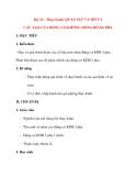 Giáo án Công Nghệ lớp 12: Bài 26 : Thực hành: QUAN SÁT VÀ MÔ TẢ CẤU TẠO CỦA ĐỘNG CƠ KHÔNG ĐỒNG BỘ BA PHA