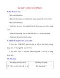 Giáo án Tin Học lớp 11: BÀI TẬP VÀ THỰC HÀNH MẢNG