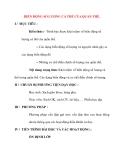 Giáo án Sinh Học lớp 12 Ban Tự Nhiên: BIẾN ĐỘNG SỐ LƯỢNG CÁ THỂ CỦA QUẦN THỂ