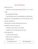 Giáo án Tin Học lớp 11: BÀI TẬP CHƯƠNG I