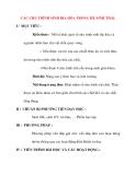 Giáo án Sinh Học lớp 12 Ban Tự Nhiên: CÁC CHU TRÌNH SINH ĐỊA HÓA TRONG HỆ SINH THÁI.