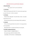 Giáo án Công Dân lớp 12: CÔNG DÂN VỚI CÁC QUYỀN DÂN CHỦ(tiết 2)