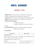 Giáo án Tiếng Anh lớp 11: UNIT 5: ILLTERACY-READING