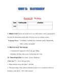 Giáo án Tiếng Anh lớp 11:  UNIT 5: ILLTERACY-WRITING