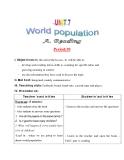 Giáo án Tiếng Anh lớp 11:  UNIT 7: WORLD POPULATION-READING