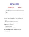Giáo án Tiếng Anh lớp 11: UNIT 3: A PARTY-READING