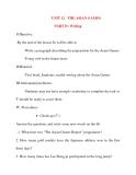 Giáo án Tiếng Anh lớp 11: UNIT 12 THE ASIAN GAMES-WRITING