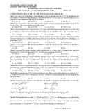 Đề kiểm tra KSCL giữa HK2 Lý 12
