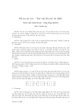 Đề toán học lớp 12 - đề 1