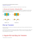 Đề tài : Cấu tạo và nguyên tắc hoạt động của Transistor thuận và Transistor ngược