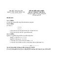 Đề thi mẫu khoa công nghệ thông tin - Trường đại học Thái Nguyên