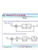 Bài giảng lý thuyết điều khiển tự động - Mô hình toán học, hệ thống điều khiển liên tục part 10