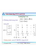 Bài giảng lý thuyết điều khiển tự động - Mô hình toán học, hệ thống điều khiển liên tục part 9