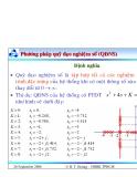 Bài giảng lý thuyết điều khiển tự động - Khảo sát tính ổn định của hệ thống part 4