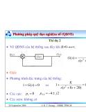 Bài giảng lý thuyết điều khiển tự động - Khảo sát tính ổn định của hệ thống part 5