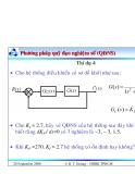 Bài giảng lý thuyết điều khiển tự động - Khảo sát tính ổn định của hệ thống part 6