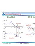 Bài giảng lý thuyết điều khiển tự động - Khảo sát tính ổn định của hệ thống part 7