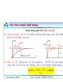Bài giảng lý thuyết điều khiển tự động - Đánh giá chất lượng hệ thống điều khiển part 2