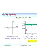 Bài giảng lý thuyết điều khiển tự động - Đánh giá chất lượng hệ thống điều khiển part 4