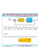 Bài giảng lý thuyết điều khiển tự động - Thiết kế hệ thống điều khiển liên tục part 7