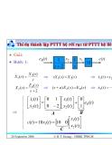 Bài giảng lý thuyết điều khiển tự động - Mô tả toán học hệ thống điều khiển rời rạc part 10