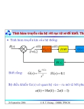 Bài giảng lý thuyết điều khiển tự động - Mô tả toán học hệ thống điều khiển rời rạc part 6