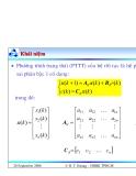Bài giảng lý thuyết điều khiển tự động - Mô tả toán học hệ thống điều khiển rời rạc part 7