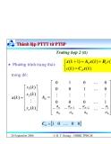 Bài giảng lý thuyết điều khiển tự động - Mô tả toán học hệ thống điều khiển rời rạc part 8