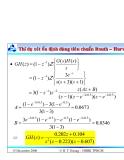 Bài giảng lý thuyết điều khiển tự động - Phân tích và thiết kế hệ thống điều khiển rời rạc part 2