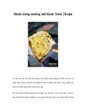 Bánh tráng nướng mỡ hành Ninh Thuận