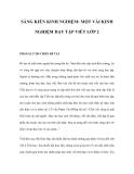 SÁNG KIẾN KINH NGHIỆM: MỘT VÀI KINH NGHIỆM DẠY TẬP VIẾT LỚP 2