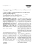 """Báo cáo khoa học: """"Infrared spectroscopy characterization of normal and lung cancer cells originated from epithelium"""""""