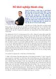 Phương pháp khởi nghiệp - hình thức khởi nghiệp