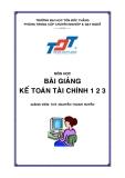 Bài giảng kế toán tài chính - Nguyễn Thanh Huy