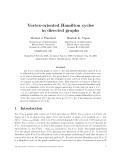 "Báo cáo toán hoc:""Vertex-oriented Hamilton cycles in directed graphs"""