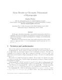 """Báo cáo toán hoc:"""" Some Results on Chromatic Polynomials of Hypergraphs"""""""