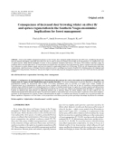 """Báo cáo lâm nghiệp: """" Consequences of increased deer browsing winter on silver fir and spruce regeneration in the Southern Vosges mountains: Implications for forest management"""""""