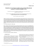 """Báo cáo lâm nghiệp: """"Reduction of wood hygroscopicity and associated dimensional response by repeated humidity cycles"""""""