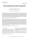 """Báo cáo lâm nghiệp: """"Forest and shrubland canopy carbon uptake in relation to foliage nitrogen concentration and leaf area index: a modelling analysis"""""""