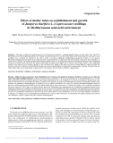 """Báo cáo lâm nghiệp: """"Effect of shelter tubes on establishment and growth of Juniperus thurifera L. (Cupressaceae) seedlings in Mediterranean semi-arid environment"""""""