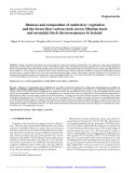 """Báo cáo lâm nghiệp: """" Biomass and composition of understory vegetation and the forest floor carbon stock across Siberian larch and mountain birch chronosequences in Iceland"""""""