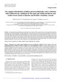 """Báo cáo lâm nghiệp: """"The angular distribution of diffuse photosynthetically active radiation under different sky conditions in the open and within deciduous and conifer forest stands of Quebec and British Columbia, Canada"""""""