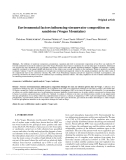 "Báo cáo lâm nghiệp: "" Environmental factors influencing streamwater composition on sandstone (Vosges Mountains)"""