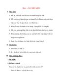 Giáo án Tin Học lớp 8 Ban Tự Nhiên: Bài 6 : CÂU ĐIỀU KIỆN