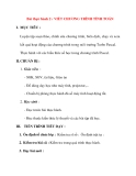 Giáo án Tin Học lớp 8 Ban Tự Nhiên: Bài thực hành 2 : VIẾT CHƯƠNG TRÌNH TÍNH TOÁN