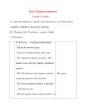 Giáo án Tiếng Anh lớp 8: Unit 2 Making arrangements Lesson 3 : Listen