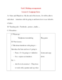 Giáo án Tiếng Anh lớp 8: Unit 2 Making arrangements Lesson 6 : Language focus