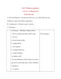 Giáo án Tiếng Anh lớp 8: Unit 2 Making arrangements Lesson 1 : Getting started Listen and read