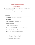 Giáo án Tiếng Anh lớp 8: Unit 6 The young pioneers club Lesson 5 : Writing